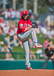 11 March 2016: Philadelphia Phillies pitcher James Russell on the mound during a Spring Training pre-season game against the Atlanta Braves at Champion Stadium in the ESPN Wide World of Sports Complex in Kissimmee, Florida. The Phillies defeated the Braves 9-2 in Grapefruit League play. Mandatory Credit: Ed Wolfstein Photo *** RAW (NEF) Image File Available ***