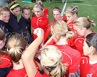 Players of the Washington Freedom during a WPS pre season match against the Philadelphia Independence at the Maryland Soccerplex on March 27 2010 in Boyds, Maryland. The game ended in a 0-0 tie.