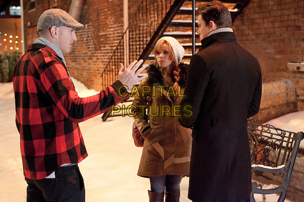 Director Michael Sucsy, Rachel McAdams and Channing Tatum.on the set of The Vow.*Filmstill - Editorial Use Only*.CAP/FB.Supplied by Capital Pictures.