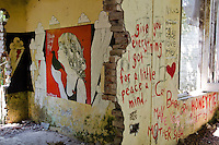 An art installation at the old ashram of the Mararishi Mahesh Yogi, in Rishikesh, where the Beatles stayed.