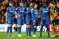 Bolton Wanderers' Mark Beevers, David Wheater, Marc Wilson, Christian Doidge and Clayton Donaldson prepare to attack a corner kick<br /> <br /> <br /> Photographer Andrew Kearns/CameraSport<br /> <br /> The EFL Sky Bet Championship - Hull City v Bolton Wanderers - Tuesday 1st January 2019 - KC Stadium - Hull<br /> <br /> World Copyright © 2019 CameraSport. All rights reserved. 43 Linden Ave. Countesthorpe. Leicester. England. LE8 5PG - Tel: +44 (0) 116 277 4147 - admin@camerasport.com - www.camerasport.com