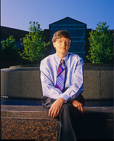Bill Gates photographed at Microsoft in Redmond, Washington, May, 1993