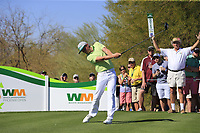 Cameron Smith (AUS) tees off the 9th tee during Saturday's Round 3 of the Waste Management Phoenix Open 2018 held on the TPC Scottsdale Stadium Course, Scottsdale, Arizona, USA. 3rd February 2018.<br /> Picture: Eoin Clarke | Golffile<br /> <br /> <br /> All photos usage must carry mandatory copyright credit (&copy; Golffile | Eoin Clarke)