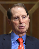 """United States Senator Ron Wyden (Democrat of Oregon), ranking member, US Senate Committee on Finance listens during a hearing on """"Individual Tax Reform"""" on Capitol Hill in Washington, DC on Thursday, September 14, 2017.<br /> Credit: Ron Sachs / CNP"""