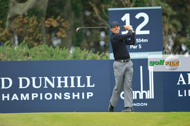 Charl Schwartzel (RSA) during Round 2 of the Alfred Dunhill Links Championship at Kingsbarns Golf Club on Friday 27th September 2013.<br /> Picture:  Thos Caffrey / www.golffile.ie