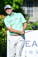 Bill Haas (USA) watches his tee shot on 15 during the round 1 of the Dean &amp; Deluca Invitational, at The Colonial, Ft. Worth, Texas, USA. 5/25/2017.<br /> Picture: Golffile | Ken Murray<br /> <br /> <br /> All photo usage must carry mandatory copyright credit (&copy; Golffile | Ken Murray)