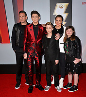 LOS ANGELES, CA. March 28, 2019: Cody Angel, Asher Angel, Avi Angel, Jody Angel & London Angel at the world premiere of Shazam! at the TCL Chinese Theatre.<br /> Picture: Paul Smith/Featureflash