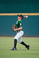 Corey Robinson (12) of Spruce Creek High School in Deland, FL during the Perfect Game National Showcase at Hoover Metropolitan Stadium on June 18, 2020 in Hoover, Alabama. (Mike Janes/Four Seam Images)