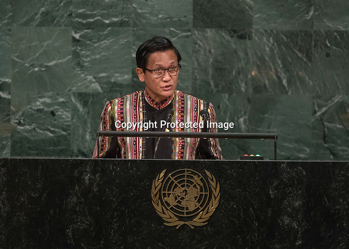 72 General Debate – 20 September <br /> <br /> His Excellency Henry Van Thio, Vice President of the Republic of the Union of Myanmar