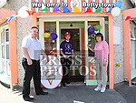 Cool Beanz Owners Martin and Colin Breen and Barbara McDonnell cut the ribon to officially open their new store in Bettystown. . Photo:Colin Bell/pressphotos.ie