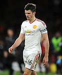 A dejected Michael Carrick of Manchester United at the end of the game<br /> - Barclays Premier League - Bournemouth vs Manchester United - Vitality Stadium - Bournemouth - England - 12th December 2015 - Pic Robin Parker/Sportimage