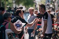 Alexander Kristoff  (NOR/UAE) interviewed before the start<br /> <br /> Stage 5: Lorient &gt; Quimper (203km)<br /> <br /> 105th Tour de France 2018<br /> &copy;kramon