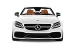 Car photography straight front view of a 2017 Mercedes Benz C Class AMG 63 S 2 Door Convertible