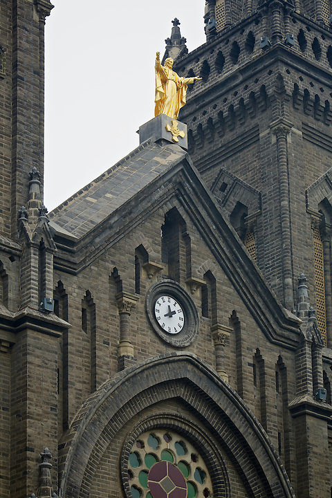 French Roman Catholic Cathedral.  Built in 1878, Burned Down In 1900 And Rebuilt In 1912.