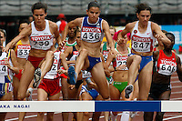 Women's Steeplechase heat at the 11th. IAAF World Championships on Saturday, August 25, 2007.Photo by Errol Anderson,The Sporting Image.