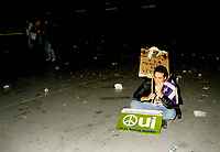 FILE -  <br /> La defaite du OUI lors de la soiree du referendum,le 30 Octobre 1995 au Palais des Congres<br /> <br /> PHOTO : Agence Quebec Presse