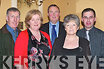 TRAVELLED: Tim and Ann Dennehy (Castlegregory), Paud and Mary Pellican (Listowel) and John Slattery (Tralee) who travelled on a wet Saturday night to attend the Kerry Supporters GAA Gala Dinner in Ballygarry House Hotel & Spa, Tralee.   Copyright Kerry's Eye 2008