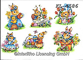 Interlitho-Theresa, EASTER, OSTERN, PASCUA, paintings+++++,6 rabbits,KL4586,#e#, EVERYDAY ,rabbit,rabbits ,sticker,stickers,