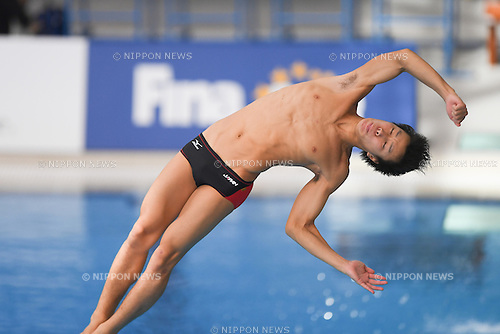Yuto Araki (JPN), NOVEMBER 4, 2016 - Diving : Men's 3m springboard Preliminaries during the Fina Diving Grand Prix at the OCBC Aquatic Centre in Singapore. (Photo by Haruhiko Otsuka/AFLO)