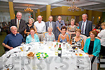Sr. Leonie Bracken from Cahersiveen and serving in Phoenix, Arizona celebrated her Golden Jubilee with family at the Waterville Lake Hotel on Saturday night last pictured here front l-r; Fr. Linnane, Sr. Consolata Bracken, Sr. Leonie Bracken. Ita English, Genie O'Sullivan, Ann Swann, back l-r; Eamon English, Brenda Hurley, Sean Hurley, Johnny Bracken, Peter Swann, Mary Bracken & Jackie O'Sullivan.