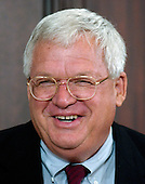 Washington, D.C. - April 20, 2005 -- Speaker of the United States House of Representatives J. Dennis Hastert (Republican of the 14th District of Illinois) attends the signing of the Bankruptcy Reform Bill in Washington, D.C. on April 20, 2005.  The Speaker of the House is second in the line of succession to the United States Presidency after the Vice President of the United States.<br /> Credit: Ron Sachs / CNP