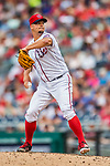 29 June 2017: Washington Nationals pitcher Joe Blanton on the mound against the Chicago Cubs at Nationals Park in Washington, DC. The Cubs rallied against the Nationals to win 5-4 and split their 4-game series. Mandatory Credit: Ed Wolfstein Photo *** RAW (NEF) Image File Available ***