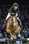 Jane Richard Philips of Switzerland riding Zekina Z competes during the Longines Speed Challenge, part of the <br /> Longines Masters of Hong Kong on 11 February 2017 at the Asia World Expo in Hong Kong, China. Photo by Victor Fraile / Power Sport Images