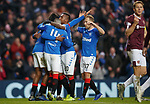 01.12.2019 Rangers v Hearts: Ryan Kent takes the acclaim after goal no 2