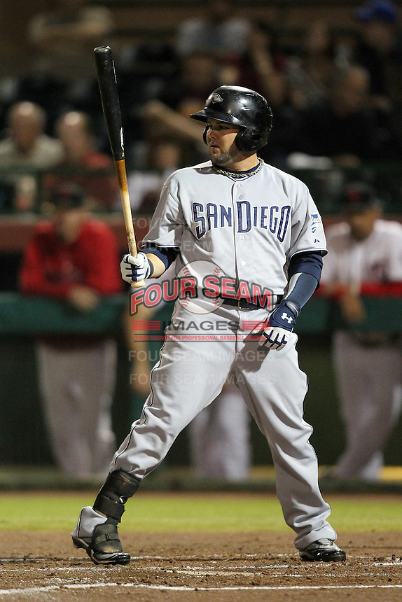Peoria Javelinas outfielder Jaff Decker #12 during an Arizona Fall League game against the Scottsdale Scorpions at Scottsdale Stadium on November 1, 2011 in Scottsdale, Arizona.  Scottsdale defeated Peoria 6-4.  (Mike Janes/Four Seam Images)