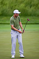 Ross Fisher (ENG) watches his putt on 17 during the Wednesday practice day of the 117th U.S. Open, at Erin Hills, Erin, Wisconsin. 6/14/2017.<br /> Picture: Golffile | Ken Murray<br /> <br /> <br /> All photo usage must carry mandatory copyright credit (&copy; Golffile | Ken Murray)