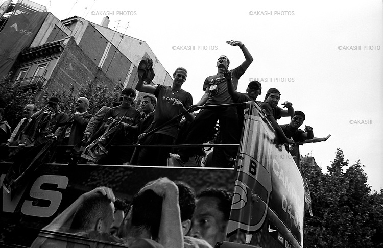 May 15, 2005.Parade of the players of F.C.Barcelona for the winning of the Spanish league.
