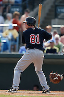 March 8, 2010:  Catcher Danny Lehmann of the Minnesota Twins during a Spring Training game at Ed Smith Stadium in Sarasota, FL.  Photo By Mike Janes/Four Seam Images