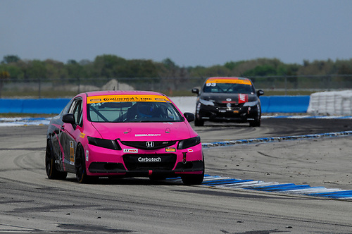 16-18 March, 2016, Sebring, Florida, USA<br /> #44 Sarah Cattaneo, Owen Trinkler, Honda Civic Si<br /> © 2016, Jay Bonvouloir, ESCP