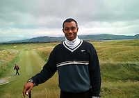 Tiger Woods pictured in Waterville, Co. kerry<br />