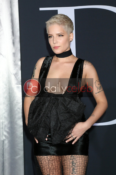 "Halsey, Ashley Nicolette Frangipane<br /> at the ""Fifty Shades Darker"" World Premiere, The Theater at Ace Hotel, Los Angeles, CA 02-02-17<br /> David Edwards/DailyCeleb.com 818-249-4998"