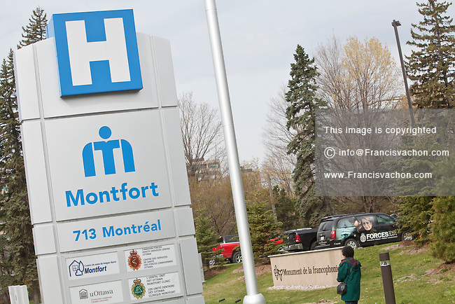 Hopital Montfort Hospital is pictured in Ottawa Thursday April 26, 2012. The Montfort Hospital is the only fully bilingual hospital in the province of Ontario.
