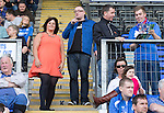 St Johnstone v Hearts...03.08.14  Steven Anderson Testimonial<br /> Hazel Thomson and Stuart Cosgrove.<br /> Picture by Graeme Hart.<br /> Copyright Perthshire Picture Agency<br /> Tel: 01738 623350  Mobile: 07990 594431