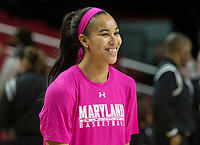COLLEGE PARK, MD - FEBRUARY 03: Stephanie Jones #24 of Maryland during a game between Michigan State and Maryland at Xfinity Center on February 03, 2020 in College Park, Maryland.