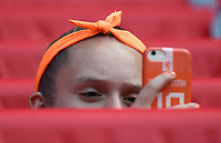 20190615 - VALENCIENNES , FRANCE : illustration picture shows the fans  during the female soccer game between The Netherlands and Cameroun (Cameroon) , the second game for both teams in group E during the FIFA Women's  World Championship in France 2019, Saturday 15 th June 2019 at the Stade du Hainaut Stadium in Valenciennes , France .  PHOTO SPORTPIX.BE | DIRK VUYLSTEKE
