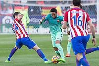 Neymar Santos Jr of Futbol Club Barcelona during the match of Spanish La Liga between Atletico de Madrid and Futbol Club Barcelona at Vicente Calderon Stadium in Madrid, Spain. February 26, 2017. (ALTERPHOTOS) /NortEPhoto.com