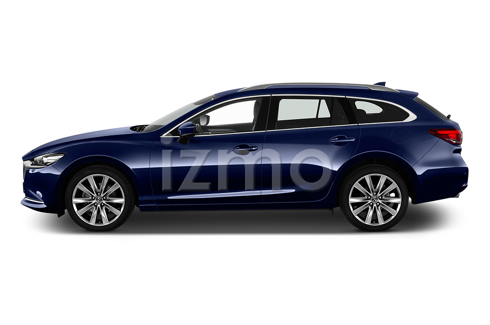 Car Driver side profile view of a 2019 Mazda Mazda6 Skycrusie 5 Door Wagon Side View