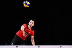 14.09.2019, Paleis 12, BrŸssel / Bruessel<br />Volleyball, Europameisterschaft, Deutschland (GER) vs. Belgien (BEL)<br /><br />Aufschlag / Service Denys Kaliberda (#6 GER)<br /><br />  Foto © nordphoto / Kurth