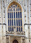 Bath Abbey frontage with ascending and descending angels
