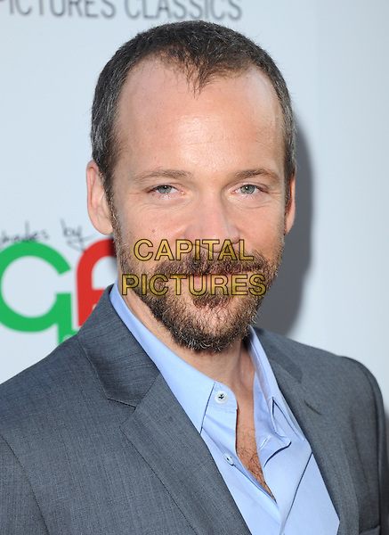 Peter Sarsgaard <br /> 'Blue Jasmine'  L.A. premiere at The Academy of Motion Pictures Arts and Sciences in Beverly Hills, California, USA.<br /> 24th July 2013 <br /> headshot portrait grey gray suit jacket blue shirt beard facial hair <br /> CAP/DVS<br /> &copy;DVS/Capital Pictures