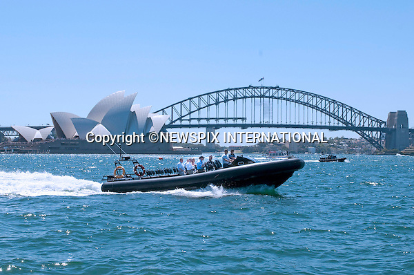 """PRINCE WILLIAM.Takes boat tour around Sydney Harbour.Prince William attended a BBQ lunch with Christina Keneally (Premier of New South Wales). The BBQ was held at Mrs Macquaries Chair, Sydney with the beautiful backdrop of Sydney Harbour Bridge and the Sydney Opera House.William met a host of Sydney residents recived some gift, posed for a photo op with Christina Keneally and took a private boat ride on a RIB around the Harbour. Mrs Macquaries Chair, Sydney, Australia_20/01/2010..Mandatory Credit Photo: ©DIAS-NEWSPIX INTERNATIONAL..**ALL FEES PAYABLE TO: """"NEWSPIX INTERNATIONAL""""**..IMMEDIATE CONFIRMATION OF USAGE REQUIRED:.Newspix International, 31 Chinnery Hill, Bishop's Stortford, ENGLAND CM23 3PS.Tel:+441279 324672  ; Fax: +441279656877.Mobile:  07775681153.e-mail: info@newspixinternational.co.uk"""
