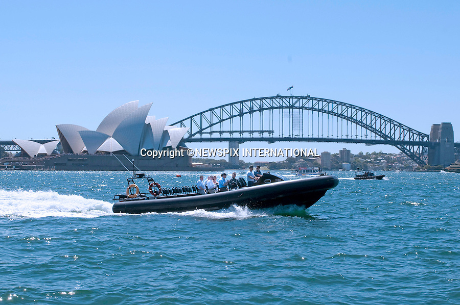 "PRINCE WILLIAM.Takes boat tour around Sydney Harbour.Prince William attended a BBQ lunch with Christina Keneally (Premier of New South Wales). The BBQ was held at Mrs Macquaries Chair, Sydney with the beautiful backdrop of Sydney Harbour Bridge and the Sydney Opera House.William met a host of Sydney residents recived some gift, posed for a photo op with Christina Keneally and took a private boat ride on a RIB around the Harbour. Mrs Macquaries Chair, Sydney, Australia_20/01/2010..Mandatory Credit Photo: ©DIAS-NEWSPIX INTERNATIONAL..**ALL FEES PAYABLE TO: ""NEWSPIX INTERNATIONAL""**..IMMEDIATE CONFIRMATION OF USAGE REQUIRED:.Newspix International, 31 Chinnery Hill, Bishop's Stortford, ENGLAND CM23 3PS.Tel:+441279 324672  ; Fax: +441279656877.Mobile:  07775681153.e-mail: info@newspixinternational.co.uk"