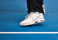 Hilversum, The Netherlands, March 09, 2016,  Tulip Tennis Center, NOVK, tennis shoe on Plexipave hardcourt <br /> Photo: Tennisimages/Henk Koster