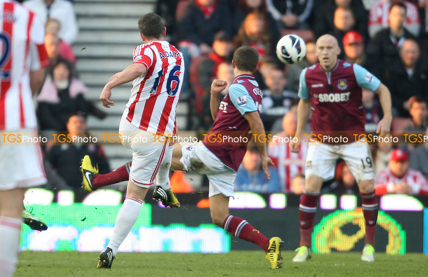 Charlie Adam of Stoke hits the crossbar late in the game - Stoke City vs West Ham United, Barclays Premier League at the Britannia Stadium, Stoke - 02/03/13 - MANDATORY CREDIT: Rob Newell/TGSPHOTO - Self billing applies where appropriate - 0845 094 6026 - contact@tgsphoto.co.uk - NO UNPAID USE.