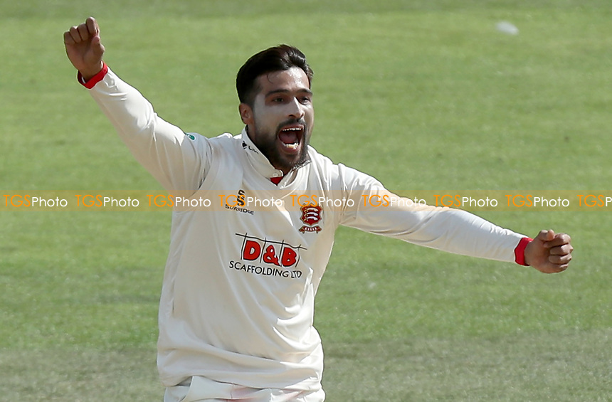 Mohammed Amir of Essex appeals for a wicket during Kent CCC vs Essex CCC, Specsavers County Championship Division 1 Cricket at the St Lawrence Ground on 20th August 2019