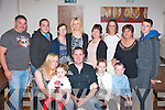 FOUR 0 FORTY: Declan Connolly, Marian Pk, Tralee (seated) celebrated his 40th birthday last Friday night in La Scala, Tralee along with family and friends.